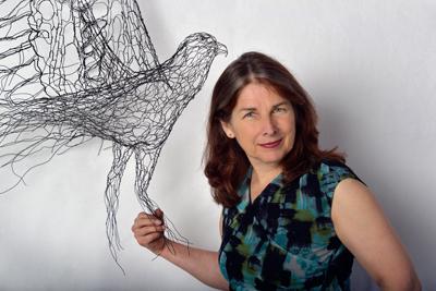 Elizabeth Berrien with Osprey