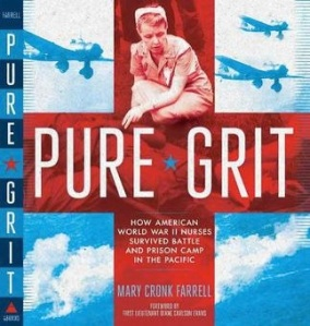 PURE GRIT book cover with Army Nurse Frankie Lewey