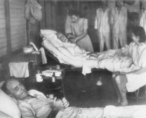 Hospital in Santo Tomas Prison Camp, P.I.