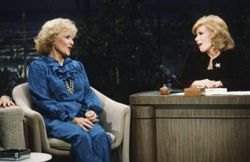 "Rivers was a ""Tonight Show"" regular for decades. Here with Betty White. (NBC/NBCU PHOTO BANK VIA GETTY IMAGES)"